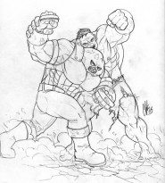 Juggernaut Vs Hulk by ClayDaddy